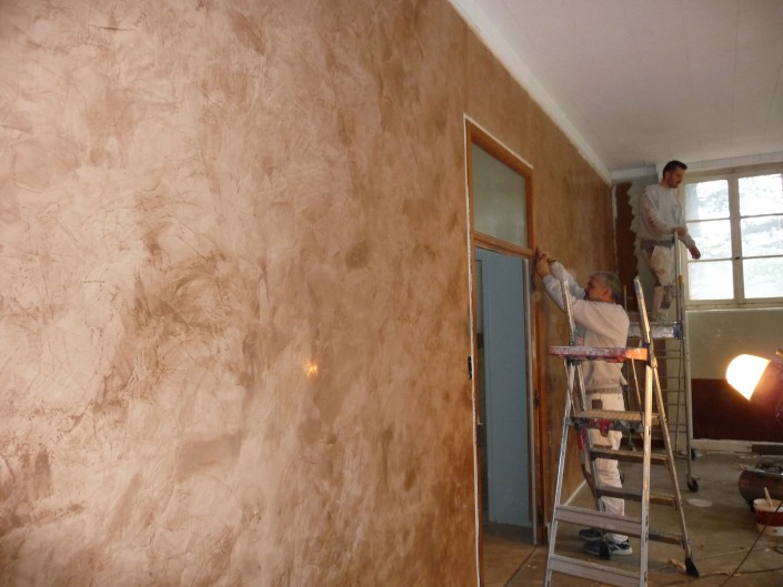 Venetian stucco for indoor decoration chaux stuc stuc lime for Peinture decorative